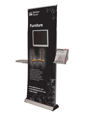 banner stand with ipad holder or lcd mount
