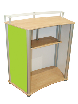 Linear Curved Counter Back (shown with optional internal shelf)