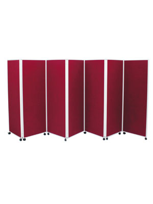 Wheeled Panel Kit 7 Panel Screens